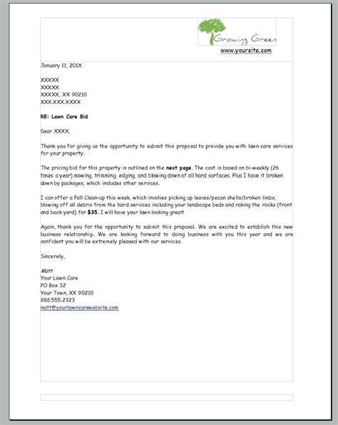 bid package template wonderful lawn care template gallery exle resume