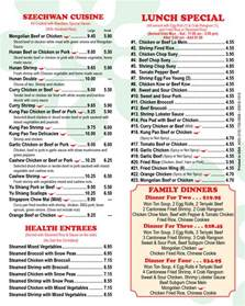 china buffet menu ing s china king buffet