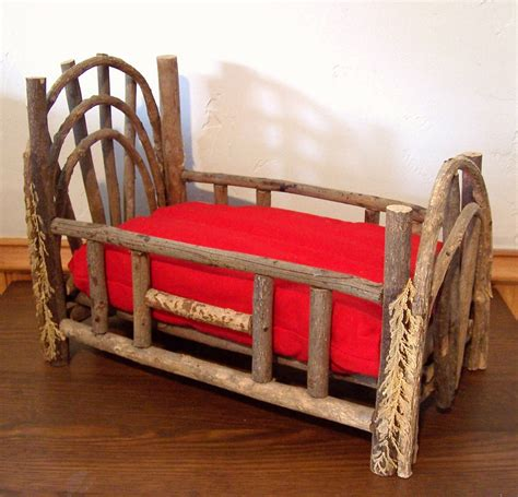 Handmade Doll Beds - rustic doll bed with mattress appalachian miniature handmade