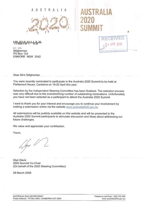 Business Letter Rejection Stilgherrian 183 Australia 2020 Rejection Letter Finally Arrives