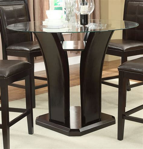 poundex f2293 brown glass dining table a sofa