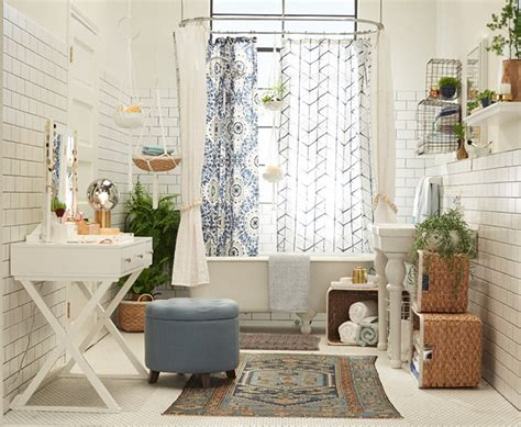 Oval Decorated Hollow Out Design Rock Chic Blue target chapter 9 bohemian bathroom emily henderson