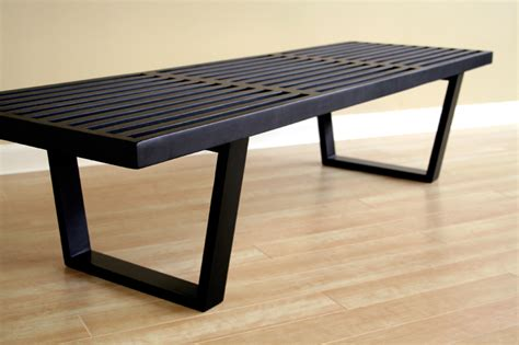 black wooden bench wholesale interiors nelson style wooden bench black 4015 2