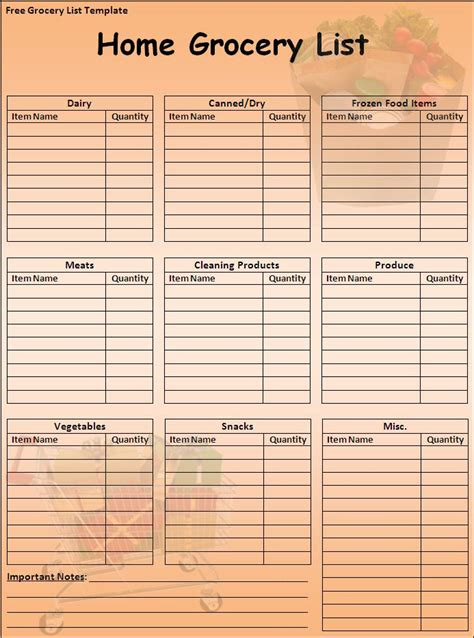 grocery list template new calendar template site
