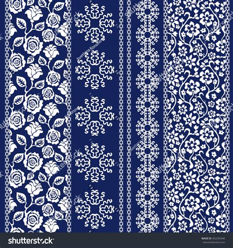 Set Of Batik set batik bohemian borders damask seamless stock vector