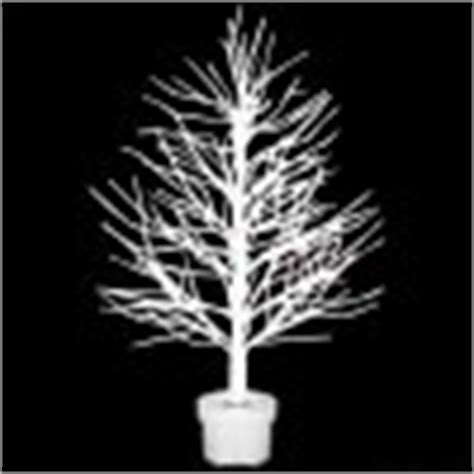 72 inch white fibre optic twig tree with silver base twig tree