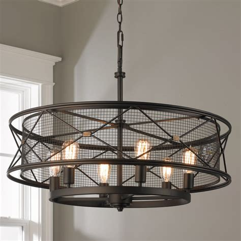 X Cage Urban 6 Light Chandelier Shades Of Light Cage Light Chandelier
