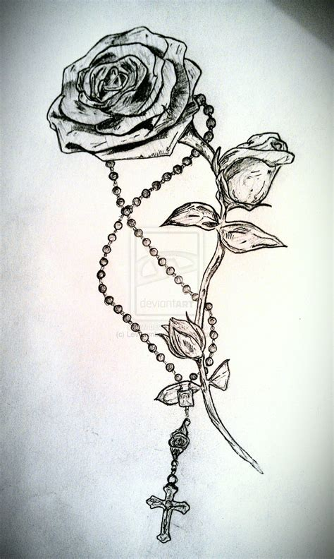 rose beads tattoo designs rosary tattoos