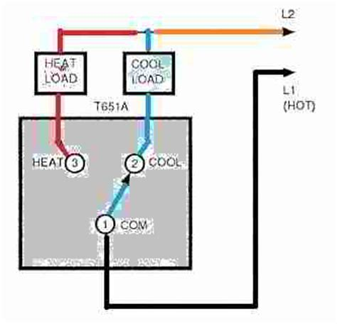 honeywell line voltage thermostat wiring diagram