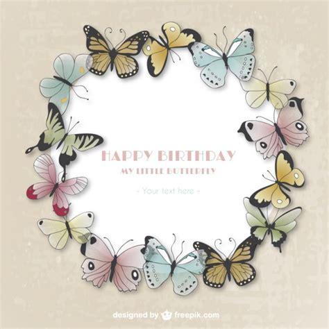 imagenes de cumpleaños con mariposas tarjeta del feliz cumplea 241 os con mariposas descargar
