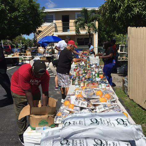 wayne barton study center co hosts grocery giveaway boca raton news most reliable - Wayne Barton Food Giveaway