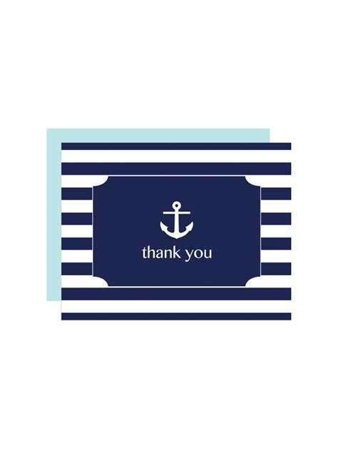 printable thank you card creator free printable striped anchor thank you card maker from