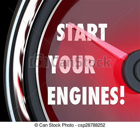 Start Your Engines by Stock Images Of Start Your Engines Speedometer Begin Race