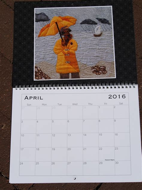 Calendar Hanging Airedale Rescue Quilting Bee 2016 Hanging Desk