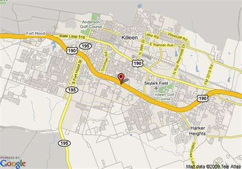 map of killeen texas and surrounding areas map of garden inn killeen killeen