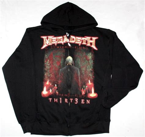 Hoodie Zipper Megadeth megadeth thirteen 2011 13 thrash metallica zip up hoodie new black sweatshirt ebay