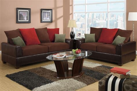 red leather sofa and loveseat poundex kalei f7565 red leather sofa and loveseat set