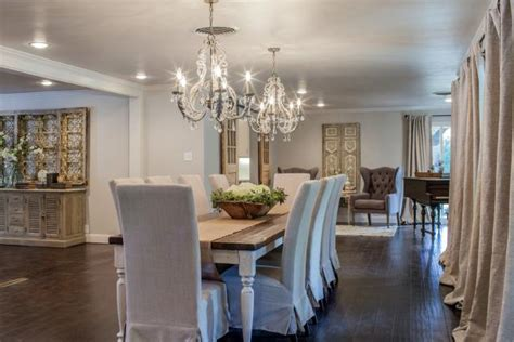 fixer upper elegant french country style dining room hgtv