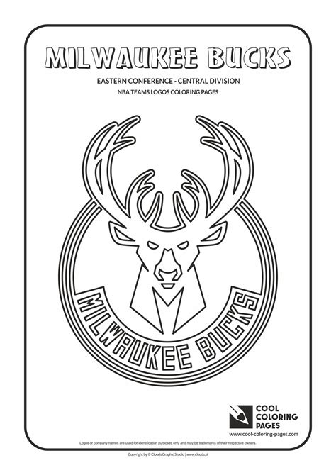 coloring pages nba team logos milwaukee bucks free coloring pages