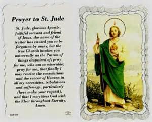 st jude linen prayer card