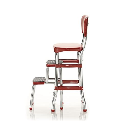Cosco Black Retro Counter Chair Step Stool by Cosco 11120red1e Retro Counter Chair Step Stool Buy