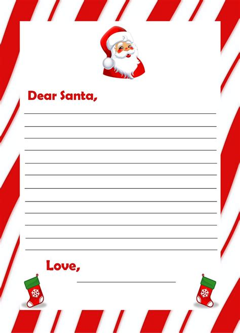 letters to santa template coloring pages