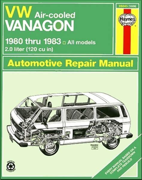Volkswagen Vw Vanagon Repair Manual 1980 1983 Haynes 96045