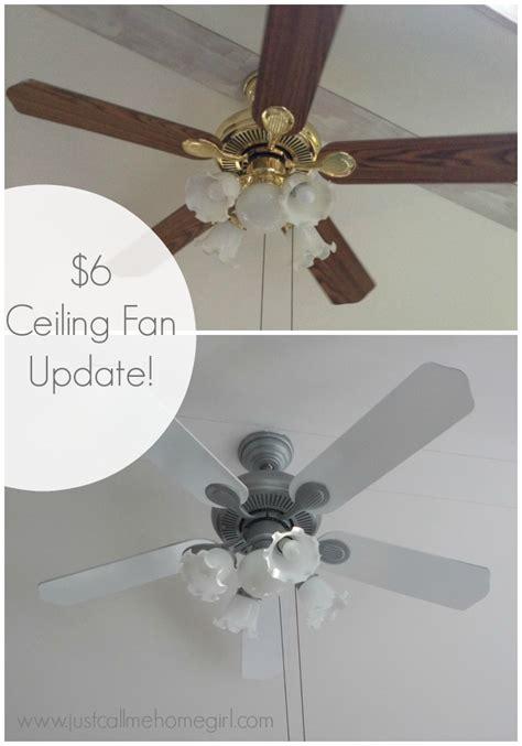Spray Paint Ceiling Fan by 6 Dollar Ceiling Fan Update Ceiling Fan Spray Painting