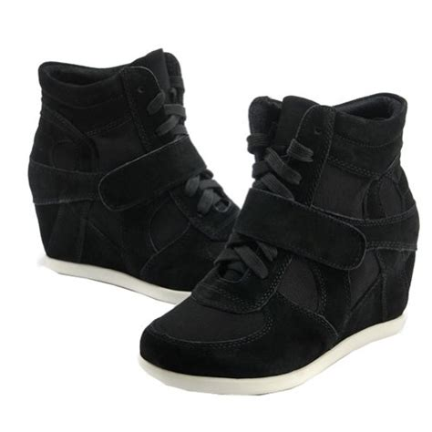 Kk0439 Wedges Fashion Wedges Import generic s formal wedge heel black suede leather import it all