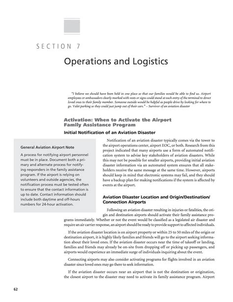 Section 7 Family by Section 7 Operations And Logistics Establishing A