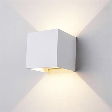 applique cubo applique led cubo lada da parete 10w 1200lm luce