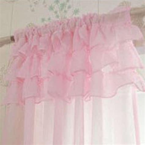 Pale Pink Curtains Decor Ruffle Curtain