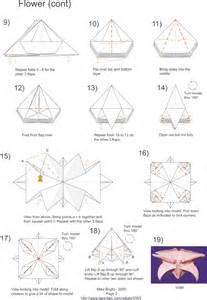 Origami Flower Diagram - mikes origami