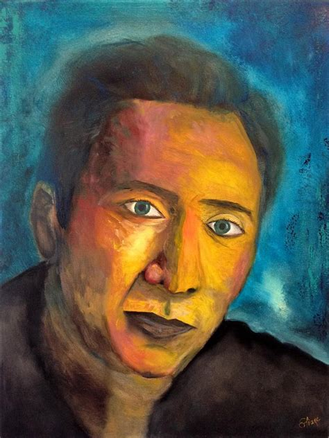 nicolas cage painting nicolas cage painting by eliane ellie