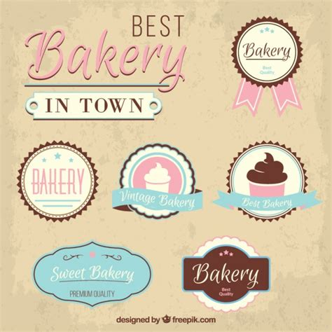 Best Bakery by Best Bakery In Town Badges Vector Premium