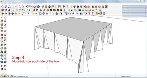 google sketchup step by step tutorial make a tablecloth in sketchup sketchup 3d rendering