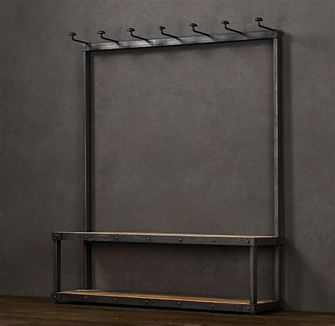 bench coat racks coat rack bench restoration hardware woodworking