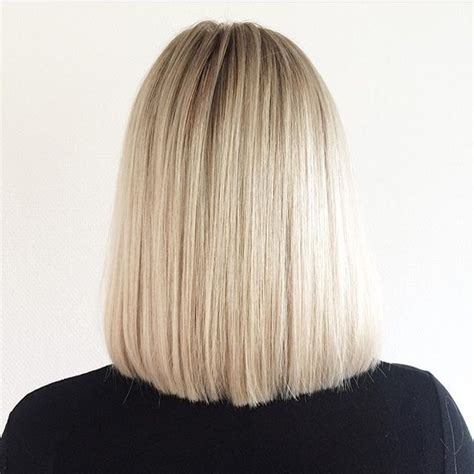 back view of straight long bob lob hairstyle pretty designs
