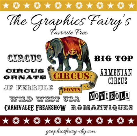 printable circus fonts march font picks favorite free circus fonts the