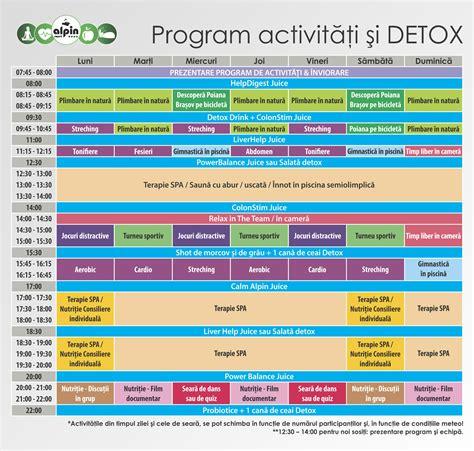 Free Detox Programs In Alabama by Program De Activități Detoxifiere Hotel Alpin