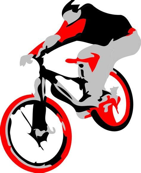 design graphics for bike mountain bike shirts free vector design ollie bike trick