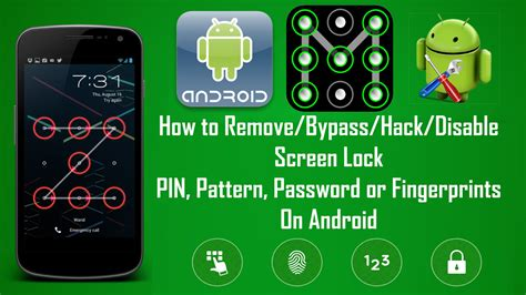 unlock pattern lock android hack how to remove or bypass android screen locks pin