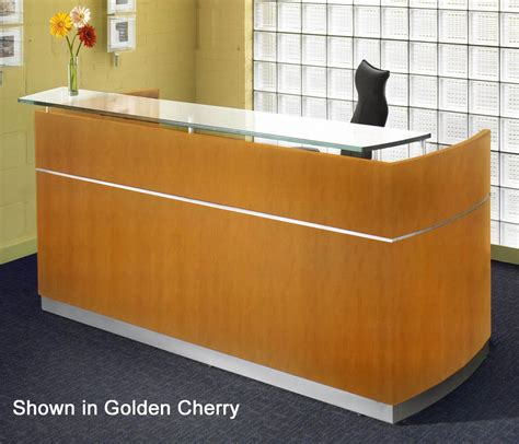 Napoli Reception Desk With Floating Glass Transaction Counter Reception Desk With Transaction Counter
