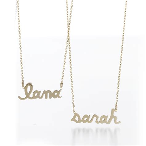 name necklace personalized from sarahchloe