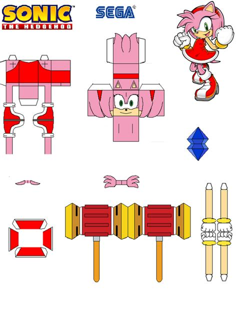 Sonic The Hedgehog Paper Crafts - sonic the hedgehog papercraft by tvfan0001 on deviantart
