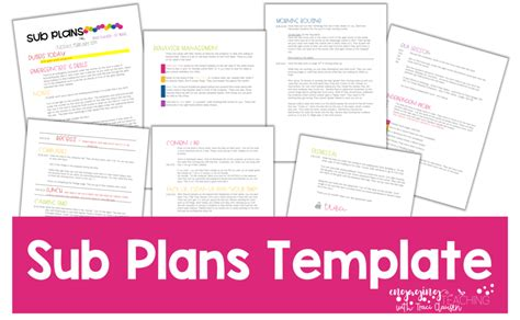 sub plans template sub plans made easy engaging teaching clausen