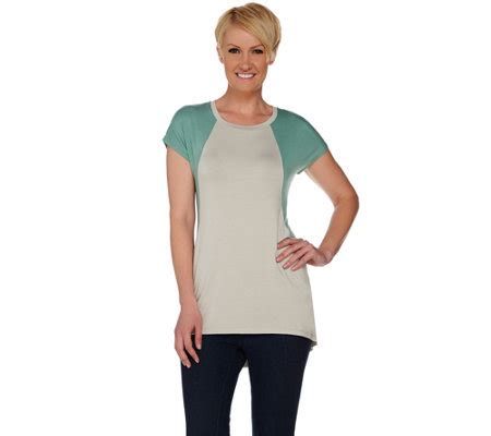 Color Block Sleeve Knit Top logo by lori goldstein color block sleeve knit top