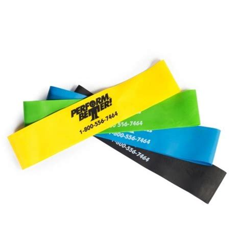 perform better perform better mini band resistance loop exercise bands