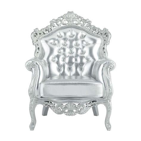 poltrone barocco poltrona argento barocco barocco maisons du monde