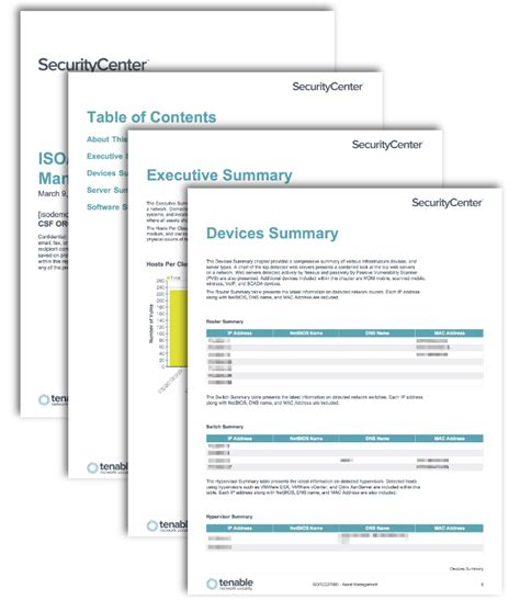 Asset Management Report Template Iso Iec27000 Asset Management Sc Report Template Tenable